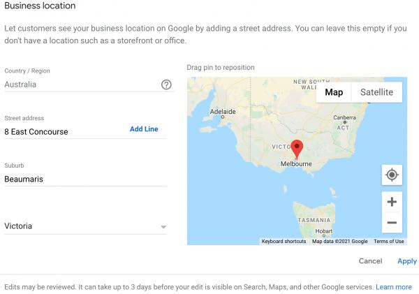 Location GMB